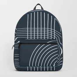 Geometric Lines in Midnight Blue 2 Backpack
