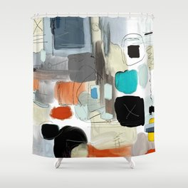 multicolored and geometric digital drawing Shower Curtain