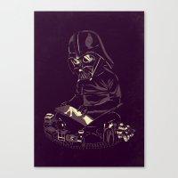 dark side Canvas Prints featuring Dark Side by yortsiraulo
