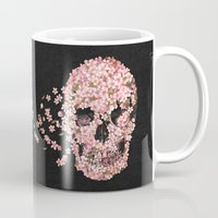 skull Mugs featuring A Beautiful Death  by Terry Fan