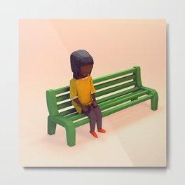 Day 0203 /// Girl on Bench Metal Print