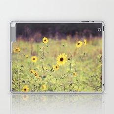 Sunny Meadow -- Yellow Wildflowers Botanical Landscape Laptop & iPad Skin