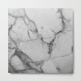 White Howlite Metal Print