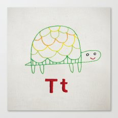 T Turtle Canvas Print
