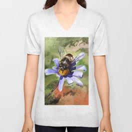 Bee on flower 18 Unisex V-Neck