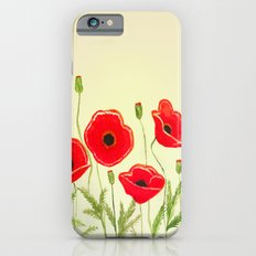 Watercolor poppies iPhone 6s Slim Case