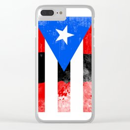 Puerto Rico + Flag Clear iPhone Case