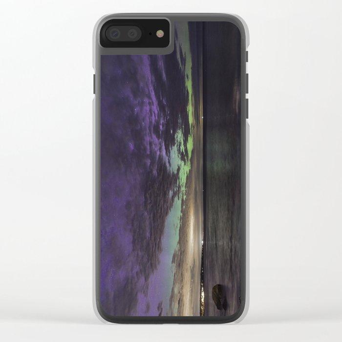 Purple Aurora at Old Garden Clear iPhone Case