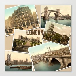 Vintage Postcards of London England  Canvas Print