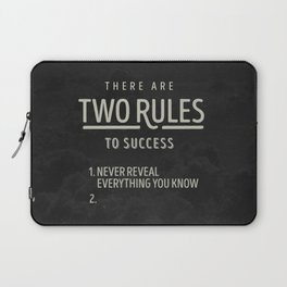 There Are Two Rules To Success Laptop Sleeve