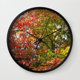 Autumn Leaves I Wall Clock