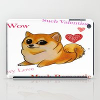 doge iPad Cases featuring Valentines Doge by Keri Lynne