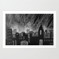 black city Art Print