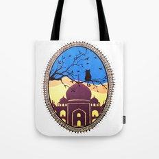Indian cat view Tote Bag