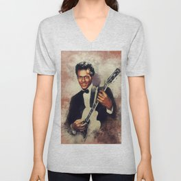 Chuck Berry, Music Legend Unisex V-Neck