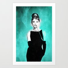 Audrey Hepburn in a Tiffany collection Art Print