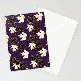 Maple Leaf (Golden Calico) - Plum Stationery Cards