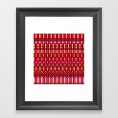 Metal finds pattern Framed Art Print