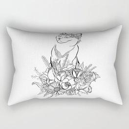 Flower Cat Rectangular Pillow