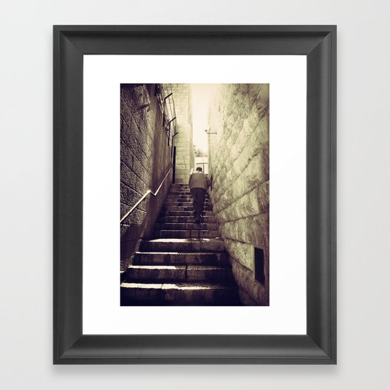 Old City Steps, Jerusalem Framed Art Print