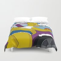 simpsons Duvet Covers featuring Simpsons by mark ashkenazi
