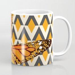 ORANGE FANTASY MONARCH BUTTERFLY ART DESIGN Coffee Mug