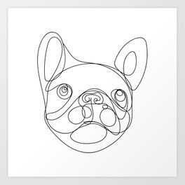 Chaca the Frenchie Art Print