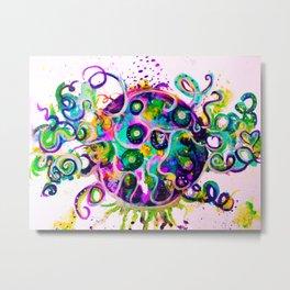planet octopus full of colors Metal Print