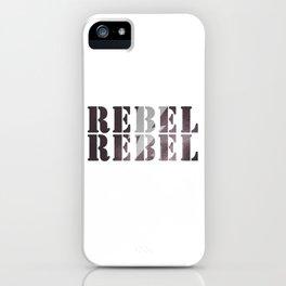 #REBEL REBEL #rusty iPhone Case