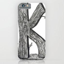 Tree Huggers Series - Letter K iPhone Case