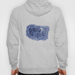 Watercolor Map of America Hoody