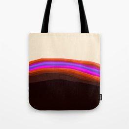 Orange, Purple, and Cream Abstract Tote Bag