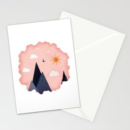 Pink Sky Stationery Cards