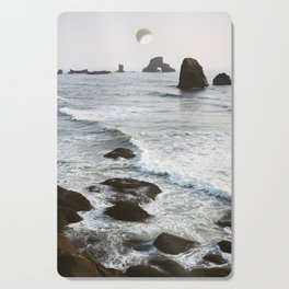 Quiet Waves on the Oregon Coast - Film Photograph Cutting Board
