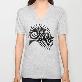 Zebra Sonnet Unisex V-Neck