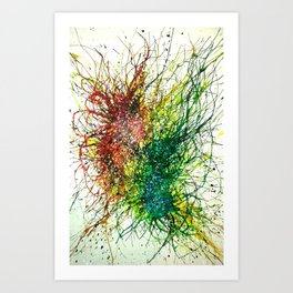 Particle Transference Art Print