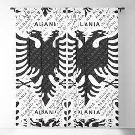 Albanian flag pattern 3 Blackout Curtain