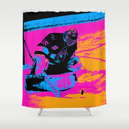 And the Puck Stops Here! - Hockey Goalie Shower Curtain