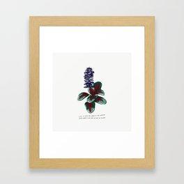 Sip the Wine Lyric Art Purple Green Garden Flower Illustration Framed Art Print