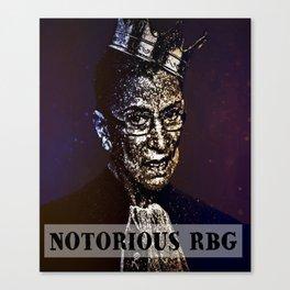 Notorious R.B.G. Funny Progressive, Liberal Ruth Bader Ginsburg Canvas Print