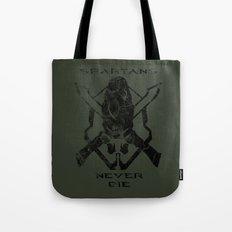 Spartans Never Die  |  Halo Tote Bag