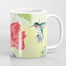 Colorful Hummingbirds and Hibiscus  Coffee Mug