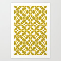 Starburst - Gold Art Print