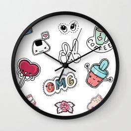 Stickers Wall Clock