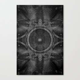 Black and white music speakers Canvas Print