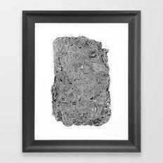 b/w pattern Framed Art Print