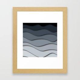 Abstract wavy design Framed Art Print