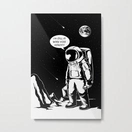 Space Mechanic Metal Print