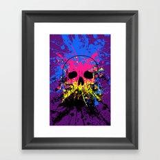 Skull splatter Framed Art Print
