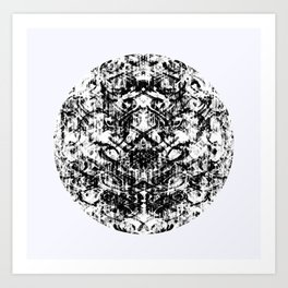 Mendhi Colourless Art Print
